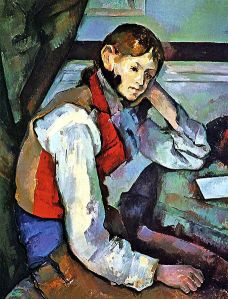 The Boy in the Red Vest by Paul Cezanne